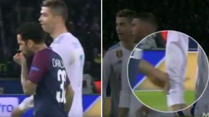 Treedt Dani Alves met deze wansmakelijke actie richting Ronaldo in de voetsporen van Diego Costa?