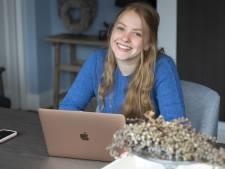 Leerlinge Eefje (17) van het Bonhoeffer College neemt geen enkel risico: al een maand alleen online lessen