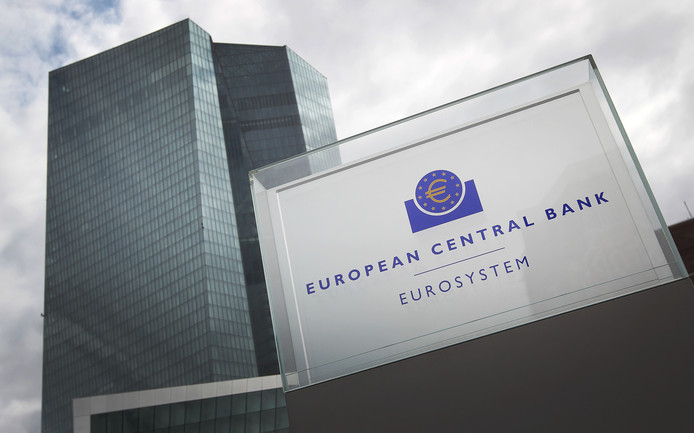 Het hoofdkantoor van de ECB in Frankfurt.