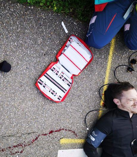 Hoe een rit op zijn racefiets Terence (26) bijna fataal werd: 'Wow, wat een klap, dacht ik nog'
