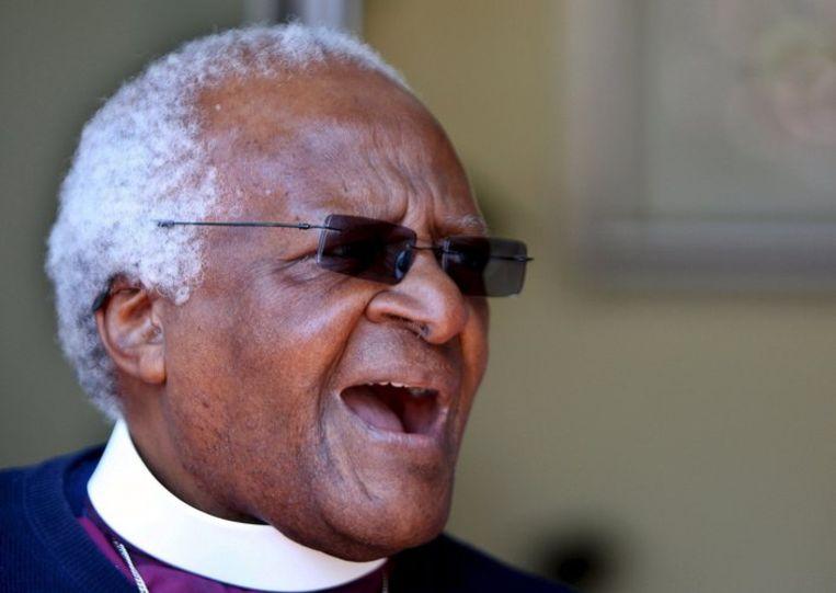 Desmond Tutu gisteren. Foto EPA/STR Beeld