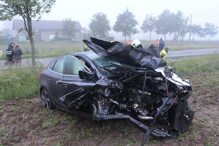 Ongeval in 2016: de wagen van Lieselot M.