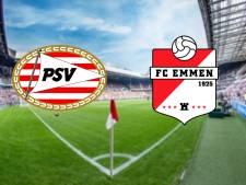 Winnend PSV ontvangt voor het eerst FC Emmen
