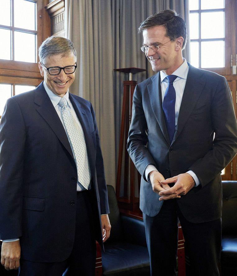 Premier Rutte en Bill Gates ontmoetten elkaar eerder in 2014. Beeld EPA