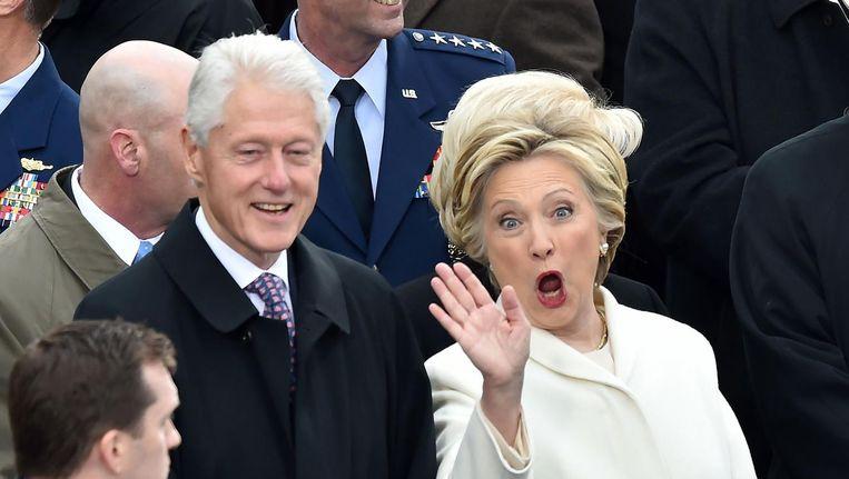 Een nieuw boek dat dinsdag uitkomt, geeft aan dat Clintons campagne niet zo'n geoliede machine was als men dacht. Beeld afp