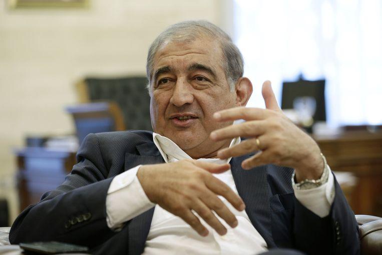 Qadri Jamil, de vicepremier van Syrië. Beeld ap