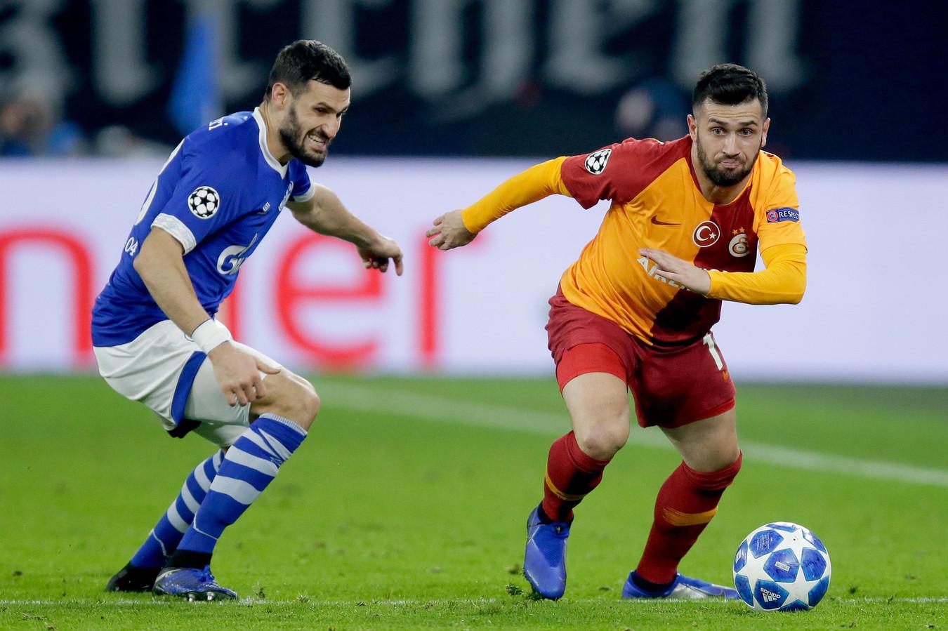 Ömer Bayram in actie in de Champions League.