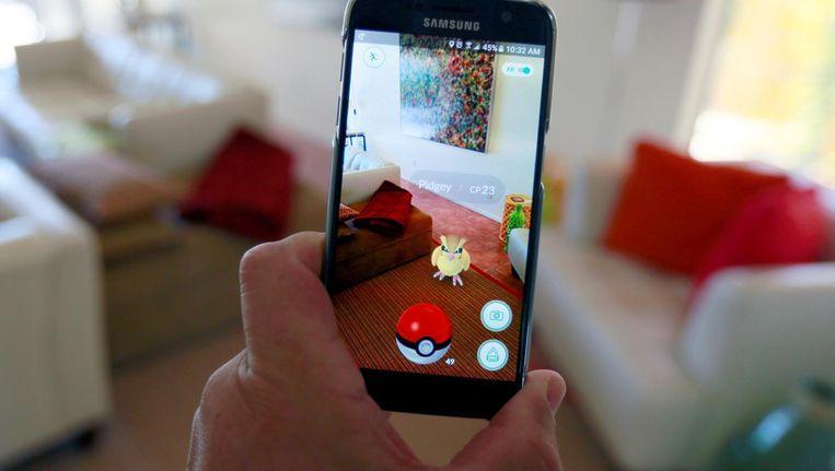 Het spel werkt via augmented reality. Beeld reuters