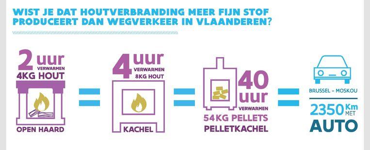 Houtverbranding zorgt voor veel fijn stof in Vlaanderen.