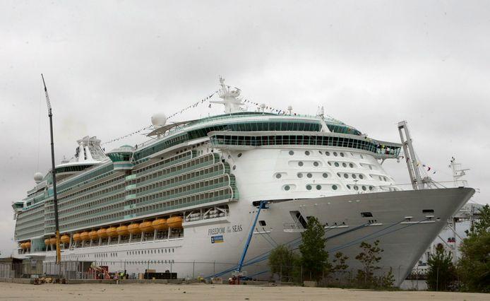 Het cruiseschip Freedom of the Seas waar het drama zich afspeelde.