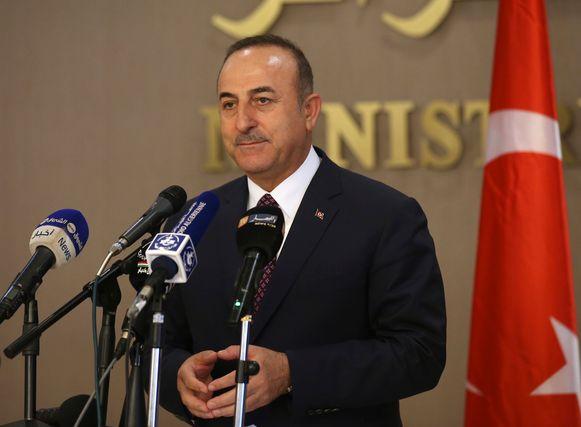De Turkse minister van Buitenlandse Zaken Mevlüt Cavusoglu.
