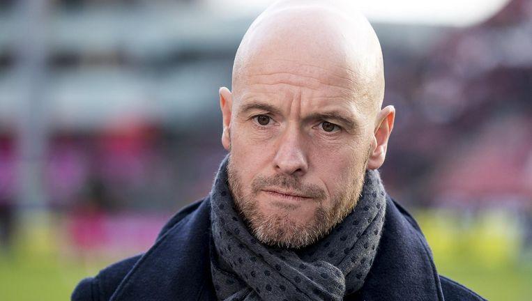 De nieuwe Ajaxcoach Erik ten Hag Beeld null