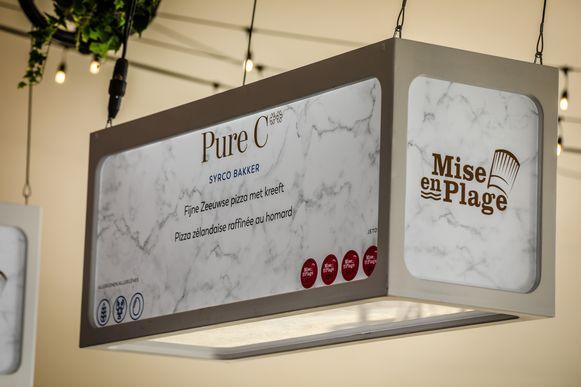 Knokke mise en plage: Pure C is één van de aanwezige restaurants