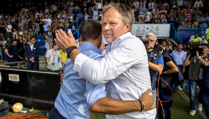 De Graafschap-trainer Henk de Jong na de overwinning op Feyenoord.