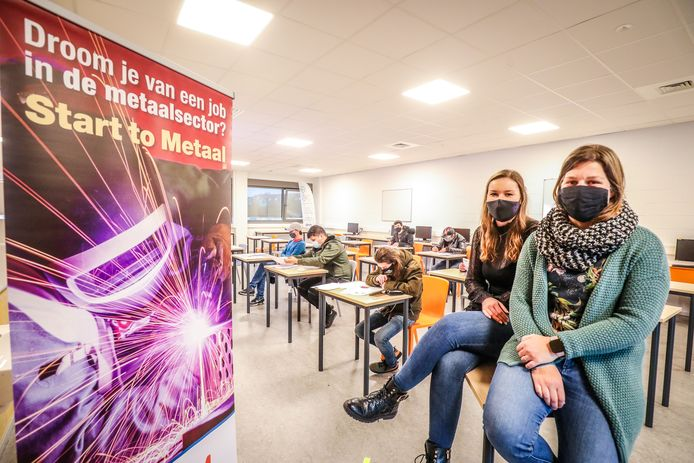 Start to metaal Torhout: Aline Parmentier en Lien Vanraes