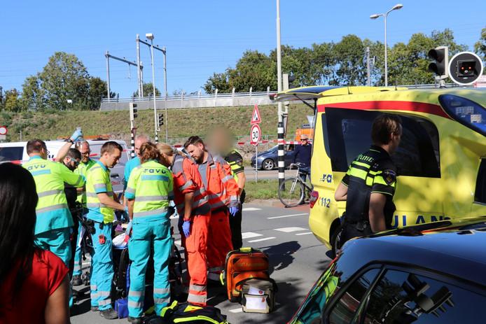 Hulpdiensten ter plaatse op de Vleutenseweg.
