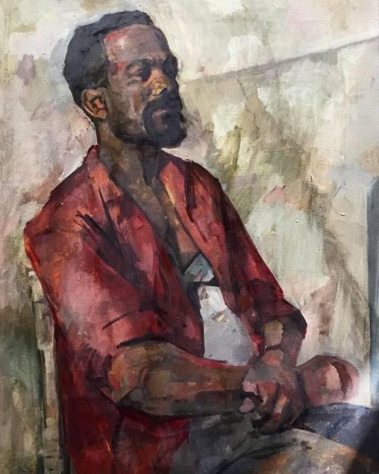 Portret van man in het rood. Een onbekend werk van Renée Stotijn.