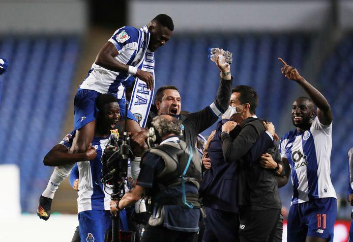 FC Porto viert het winnen van de Portugese beker.