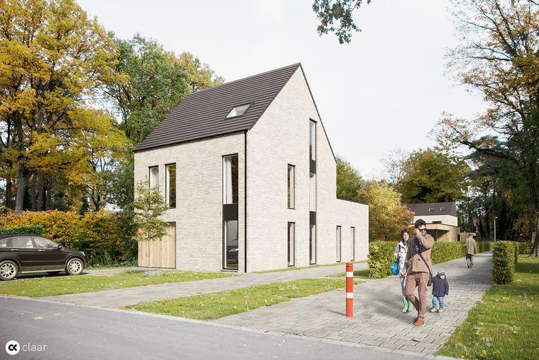 Een zicht op één van de zestien woningen die met bouwen in erfpacht worden gerealiseerd.