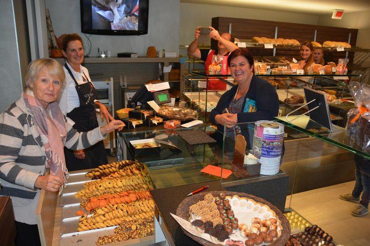 Actrice Danni Heylen stond onder meer achter de toonbank van een bakkerij.