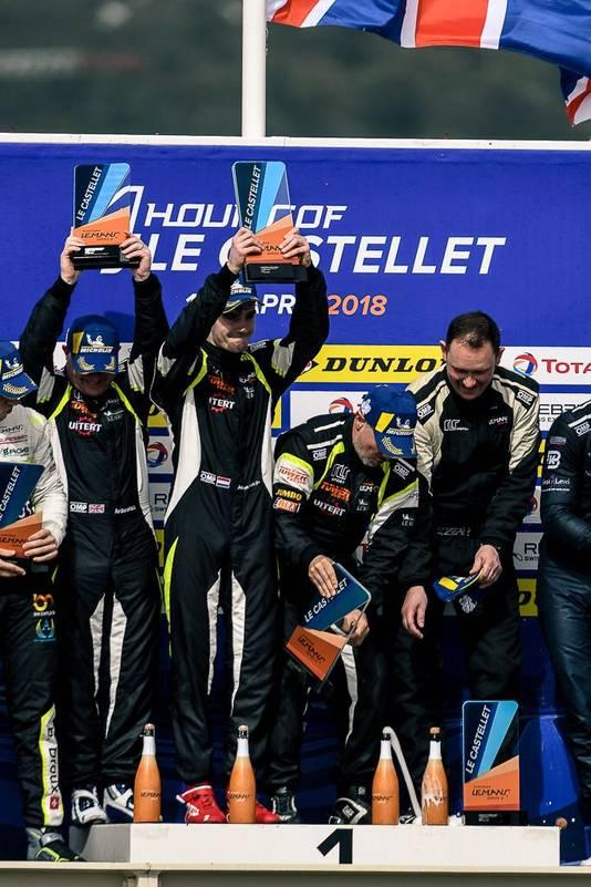 Job van Uitert pakte met zijn team de overwinning in het openingsweekend van de ELMS.