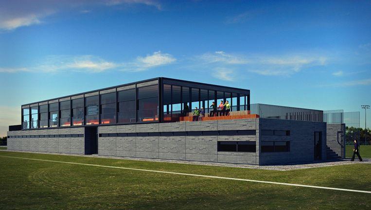 Een impressie van het nieuwe Zeeburgia-clubhuis Beeld BuroSAI