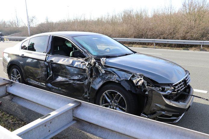 De schade aan de auto was aanzienlijk.
