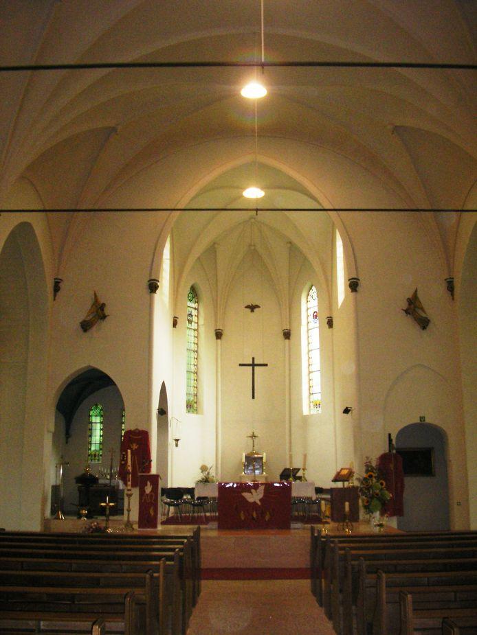 Het interieur van de kerk van Biervliet