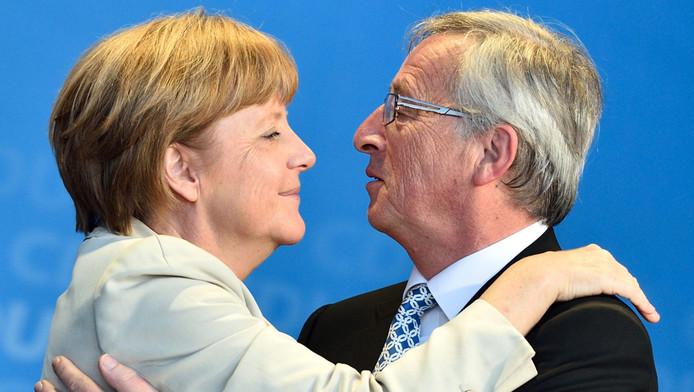 Angela Merkel en Jean-Claude Juncker
