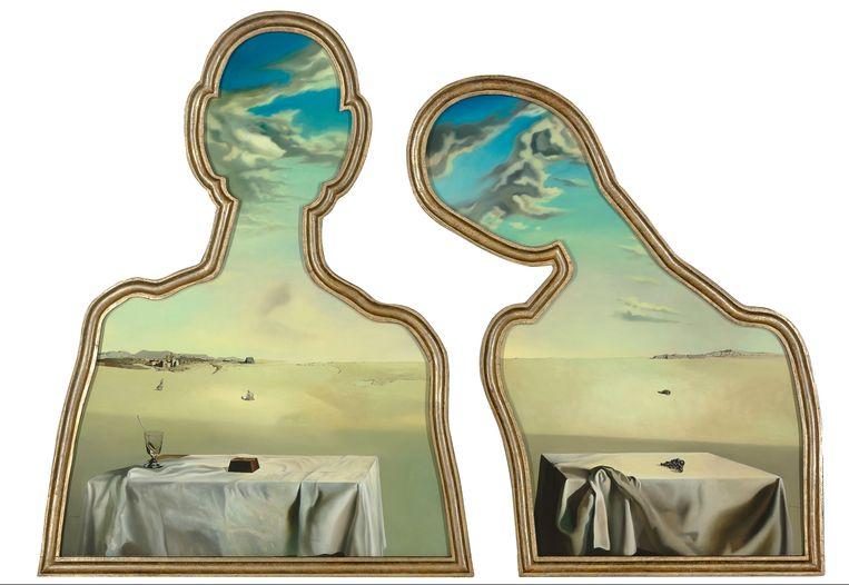 Salvador Dalí, Couple aux têtes pleines de nuages, 1936. Beeld Museum Boijmans Van Beuningen