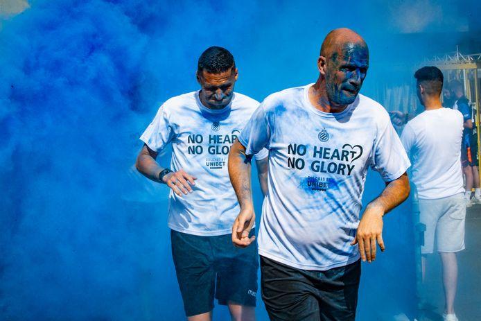 Clement en Vanaken kregen een likje blauw tijdens de 'Stadium Run', gisteren op de fandag.