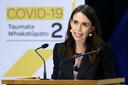 La Première ministre Jacinda Ardern, en conférence de presse, la semaine passée à Wellington
