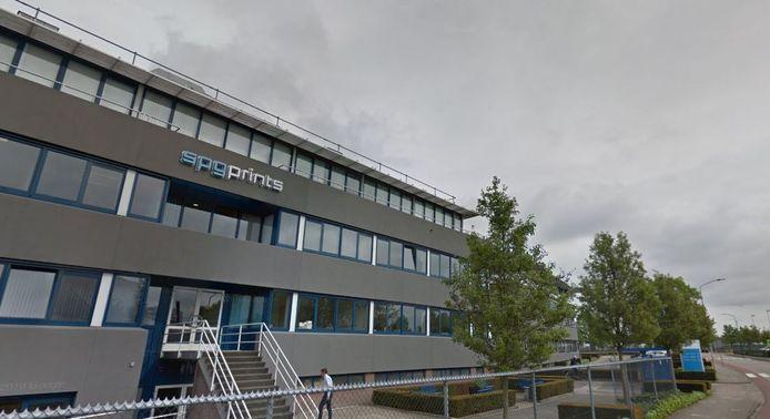 Het hoofdkantoor van SPGPrints, aan de Raamstraat in Boxmeer.