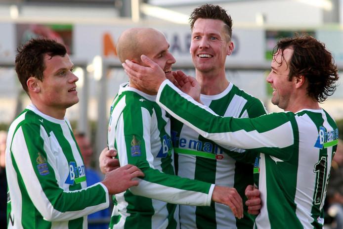 Sportclub viert de treffer van Martijn Jansen. Foto: Helmich Lubberts