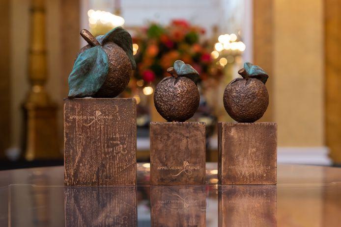 De drie winnaars ontvangen een bronzen beeldje, het 'Appeltje van Oranje', gemaakt door Prinses Beatrix, en een geldbedrag van 15.000 euro.