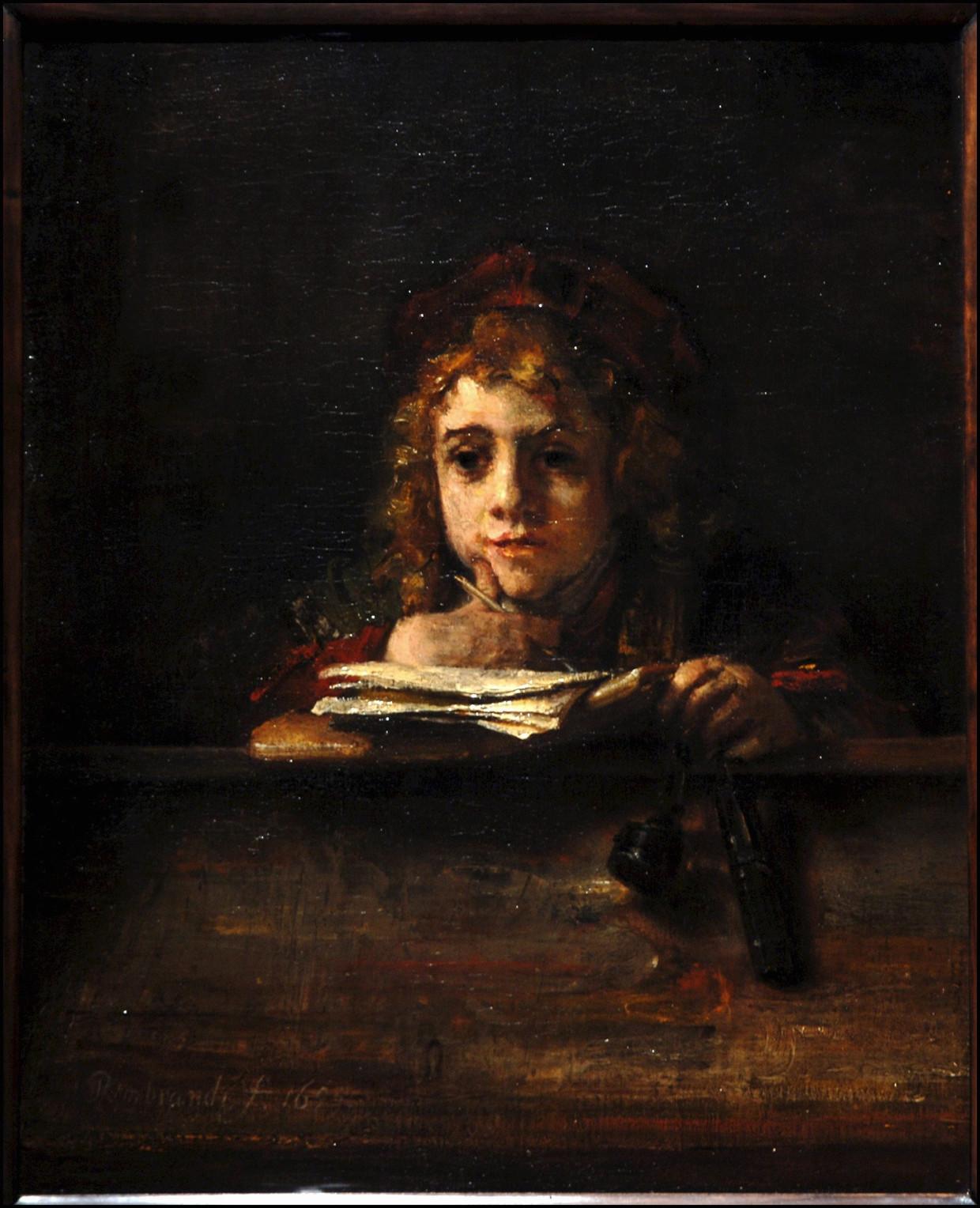 Rembrandt van Rijn, Titus aan zijn lezenaar (1655).