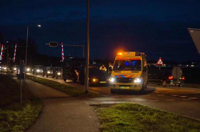 Aanrijding op de Ringbaan-Oost in Zevenaar.