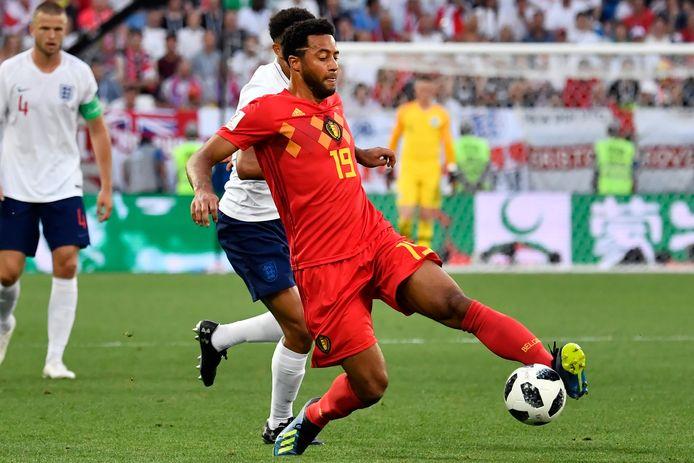 Mousa Dembélé namens België in actie op het WK 2018.
