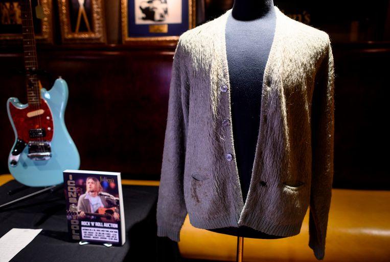 Het beroemde vest van Nirvana-voorman Kurt Cobain. Beeld AFP