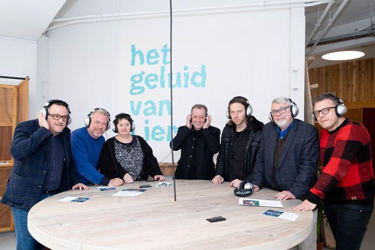 De mensen achter Het Geluid van Lier, met links cultuurschepen Ivo Andries en centraal Walter Grootaers.