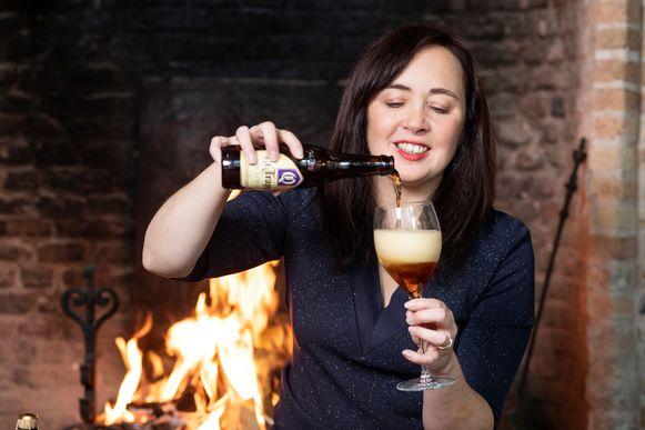 Onze biersommelier Sofie Vanrafelghem.