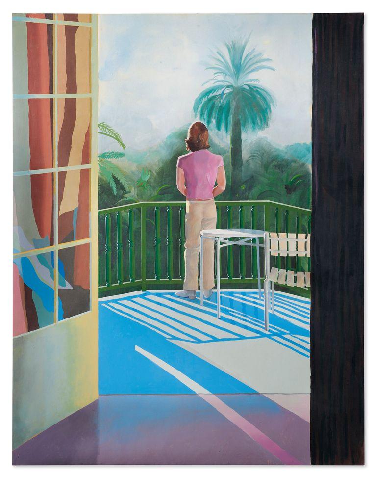 Avondveiling 13 november kavel 9B, David Hockney, Sur La Terrasse, 1971, geschatte opbrengst 22-40 miljoen euro. Beeld Christie's images ltd, 2019