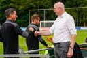 Roger Schmidt en Toon Gerbrands op De Herdgang, het trainingscomplex van PSV.