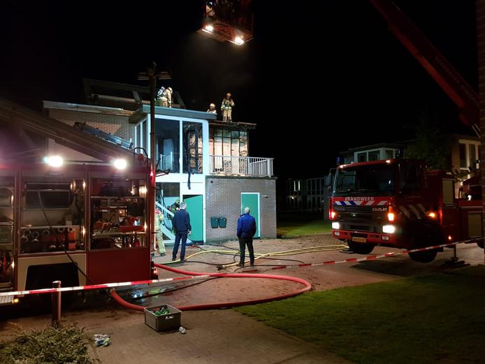 Brand bij het azc in Winterswijk