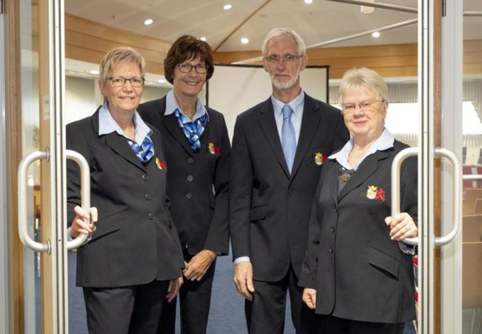 Van links naar rechts: Cobie Geuze, Thea Pannekoek, Ad Bouwman en Taetske Verkerke.