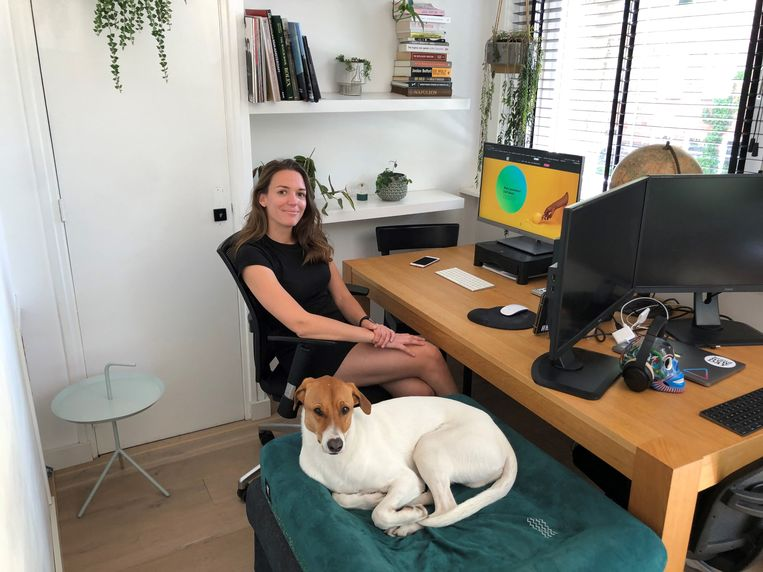 De thuiswerkplek van Nikki Mullenders Beeld