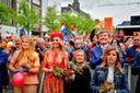 De koninklijke familie tijdens Koningsdag vorig jaar in Groningen.