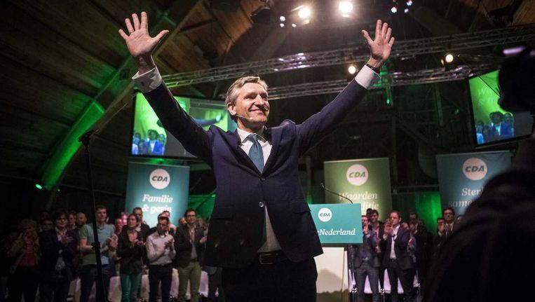 Sybrand Buma is officieel tot lijsttrekker van het CDA gekozen voor de Tweede Kamerverkiezingen van 2017, tijdens het partijcongres in De Fabrique in Utrecht. Beeld anp