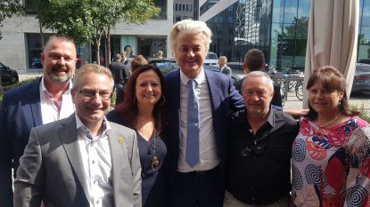 Aalsters Vlaams Belang met Geert Wilders op de foto
