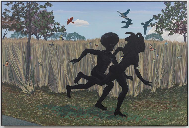 Kerry James Marshall, Vignette, 2003. Beeld Kerry James Marshall